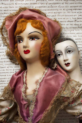Doll Photograph - Two Old Dolls by Garry Gay