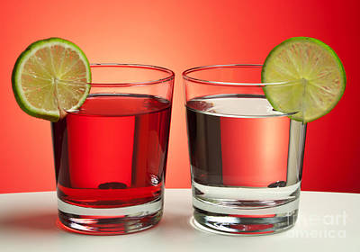 Stylized Beverage Photograph - Two Red Drinks by Blink Images