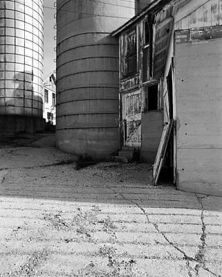 Two Silos Wern Farm Original by Jan Faul