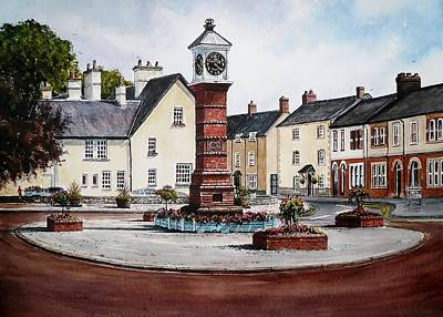 Twyn Square Usk Print by Andrew Read