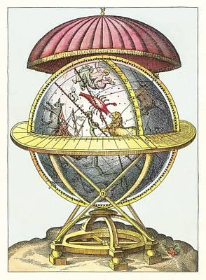 Tycho's Great Brass Globe Print by Detlev Van Ravenswaay