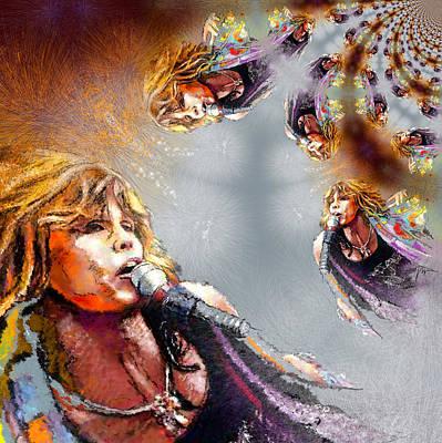 Steven Tyler Digital Art - Tyler Mania by Miki De Goodaboom