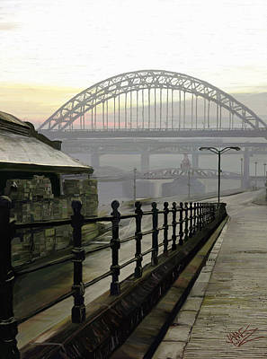 Outdoor Still Life Painting - Tyne Bridge by James Shepherd