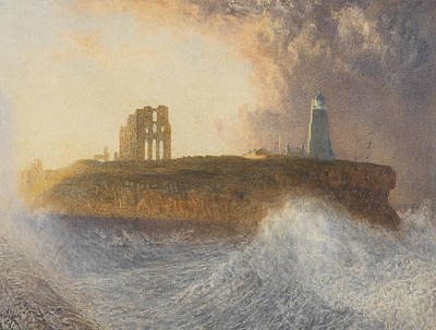 Spray Painting - Tynemouth Pier by Alfred William Hunt