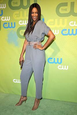 Tyra Banks Wearing A Marley Jumpsuit Print by Everett