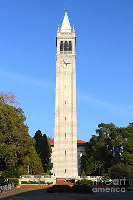 Cal Bears Photograph - Uc Berkeley . Sather Tower . The Campanile . 7d10050 by Wingsdomain Art and Photography