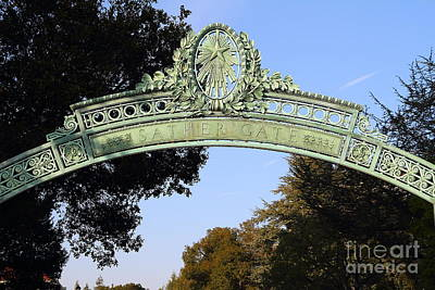 Cal Bears Photograph - Uc Berkeley . Sproul Plaza . Sather Gate . 7d10031 by Wingsdomain Art and Photography