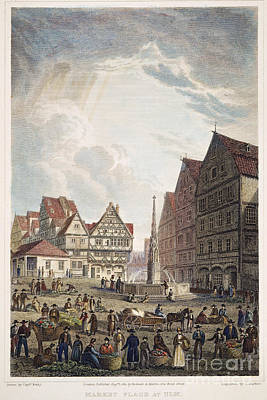 Ulm Photograph - Ulm Marketplace, 1821 by Granger