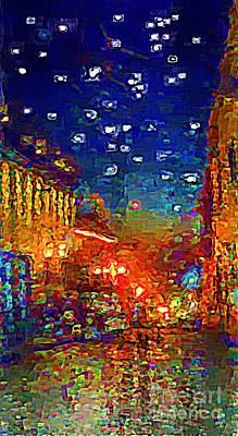 Umaran Street At Dusk Vg Print by John  Kolenberg