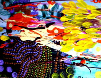 Fruit Tree Art Painting - Uncharted Sea by Paula Bramlett