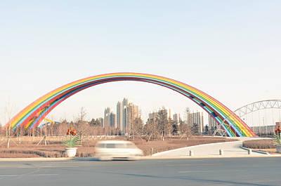 Under Rainbow Print by Andy Brandl