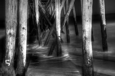 Under The Pier Print by Paul Ward