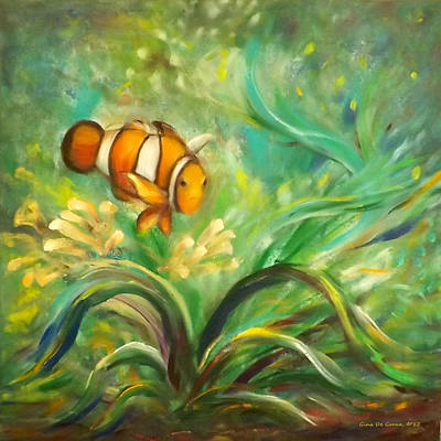 Under The Sea 11 Print by Gina De Gorna