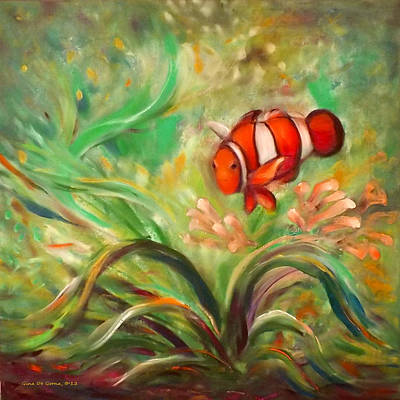 Under The Sea 111 Print by Gina De Gorna
