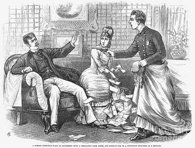 Undercover Police, 1870 Print by Granger