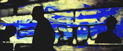 London Tube Mixed Media - Underground - People Silhouette Serigraphic Arts by Arte Venezia