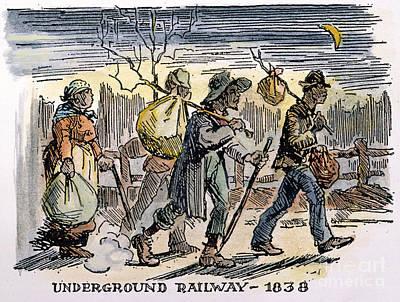 Underground Railroad, 1838 Print by Granger
