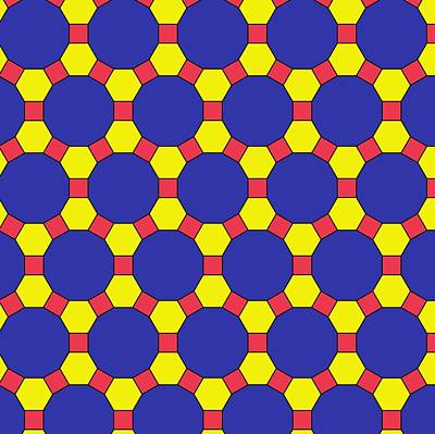 Uniform Tiling Pattern Print by
