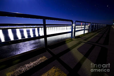 Unique View Of The Grand Haven Pier Print by Joe Gee