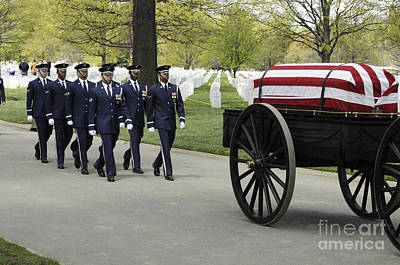 United States Air Force Honor Guard Print by Stocktrek Images