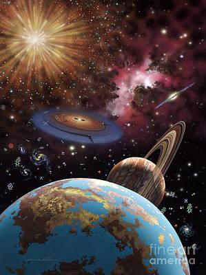 Universe II Print by Lynette Cook