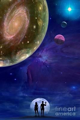 Interplanetary Space Mixed Media - Universes by Pal Virag