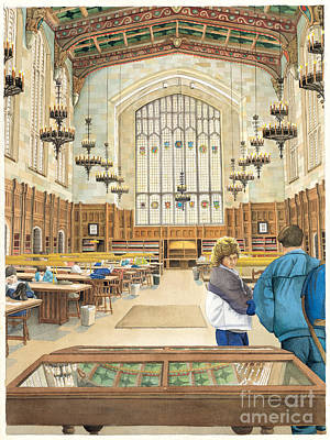 University Of Michigan Painting - University Of Michigan Law Library by Katherine Larson