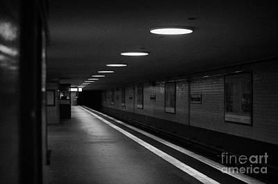Unter Der Linden Ghost Station U-bahn Station Berlin Germany Print by Joe Fox