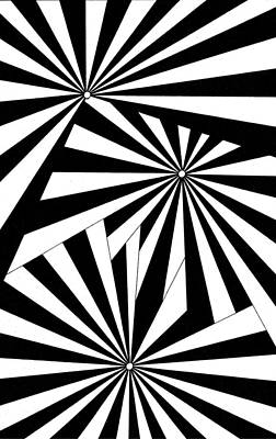Op Art Drawing - Untitled 16 by Joanna Potratz