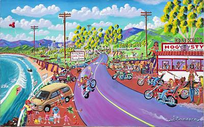Malibu Painting - Up The Coast by Frank Strasser