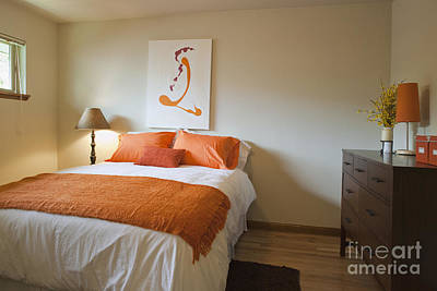Upscale Bedroom Interior Print by Inti St. Clair