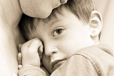 Distraught Photograph - Upset Child by Tom Gowanlock