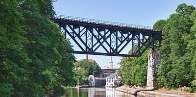 Upside-down Railroad Bridge Print by Guy Whiteley