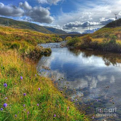 Upstream To The Bridge Print by John Kelly