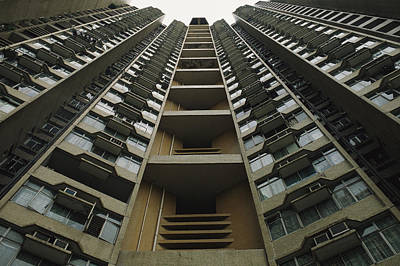 Development Of Life Photograph - Upward View Of A Public Housing by Justin Guariglia