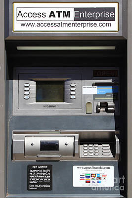 Urban Fabric . Automatic Teller Machine . 7d14178 Print by Wingsdomain Art and Photography