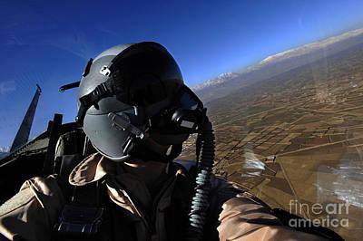 Self-portrait Photograph - U.s. Air Force Aerial Combat by Stocktrek Images
