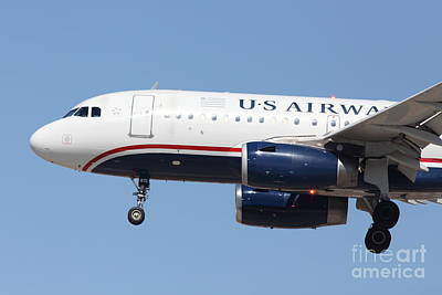 Us Airways Jet Airplane  - 5d18394 Print by Wingsdomain Art and Photography