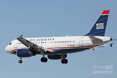 Airlines Photograph - Us Airways Jet Airplane  - 5d18396 by Wingsdomain Art and Photography