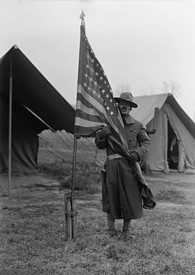 Doughboy Photograph - U.s. Army, African American Soldier by Everett