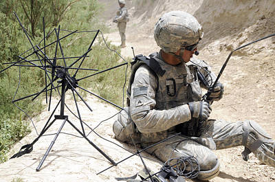 U.s. Army Soldier Sets Up A Tactical Print by Stocktrek Images
