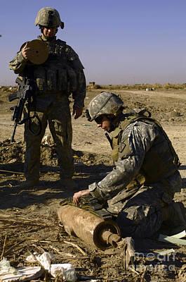 U.s. Army Soldiers Preparing Print by Stocktrek Images