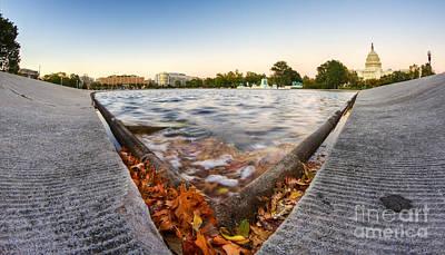 Us Capital Photograph - Us Capital Reflecting Pond by Dustin K Ryan