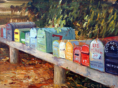 Mail Box Painting - Us Mail San Francisco by Roelof Rossouw