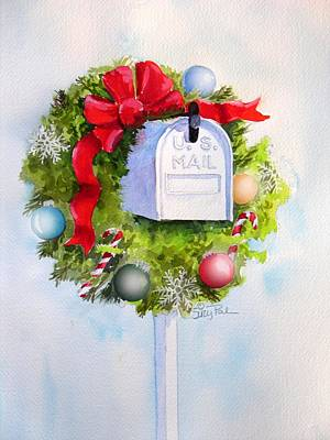 Wreath Painting - Us Mail by Suzy Pal Powell