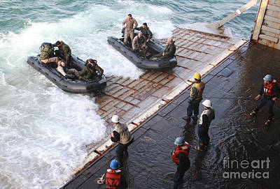 Inflatable Photograph - U.s. Marines Arrive At The Stern Gate by Stocktrek Images