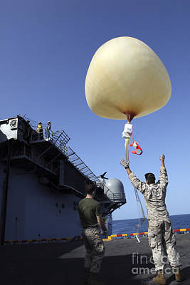 U.s. Marines Launch A Combat Skysat Print by Stocktrek Images