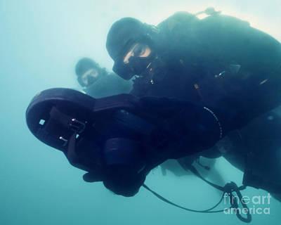 U.s. Navy Seal Combat Swimmer Pair Print by Michael Wood
