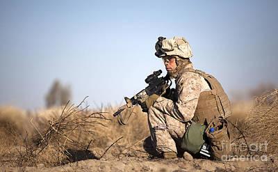 U.s. Navy Soldier Participates Print by Stocktrek Images
