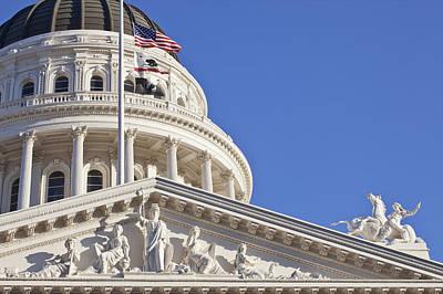 Y120907 Photograph - Usa, California, Sacramento, California State Capitol Building by Bryan Mullennix
